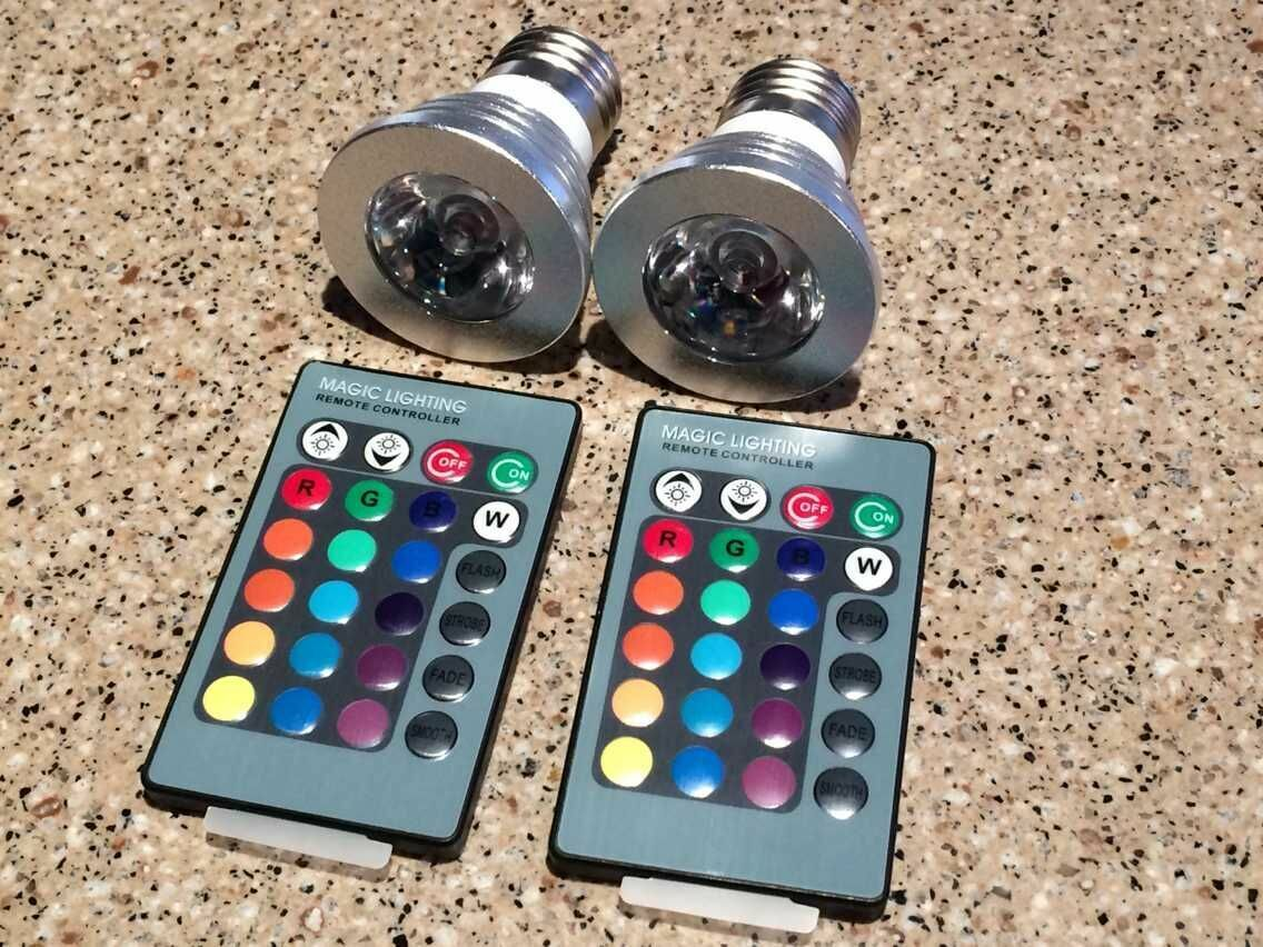 9W E27 150LM Color LED RGB Magic Light Bulb with Wireless Remote Control