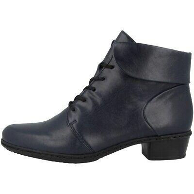 Systematisch Rieker Vicente Schuhe Antistress Stiefeletten Stiefel Schnürschuhe Navy Y0711-14