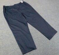 Cherokee Uniforms 26 Women's Navy Work Button Zipper Front Bottoms Pants