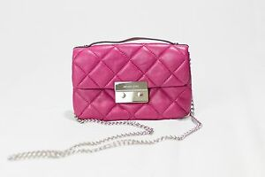 e5a6d38732cc Image is loading Michael-Kors-Quilted-Leather-Sloan-Chain-Messenger- Crossbody-