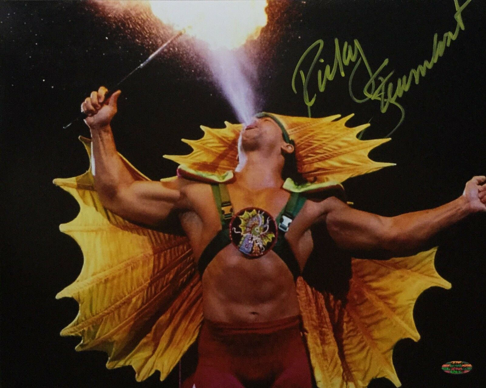 Ricky *The Dragon* Steamboat Signed 11x14 Wrestling Photo Sports Authentics COA