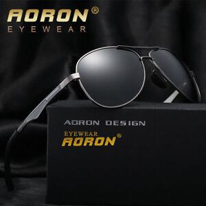 2eb9debf87 Polarized Sunglasses AORON Men s Driving Sun glasses Metal Outdoor ...