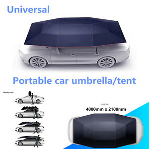 Portable Semi Automatic Outdoor Car Tent Umbrella Roof Cover Uv