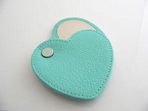 b6c8baed5b Tiffany & Co Blue Leather Purse Heart Purse Mirror Rare Excellent ...