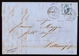 REGNO-1863-15-c-n-13e-VARIETA-039-DOPPIA-STAMPA-Cert-COLLA-RARITA-039
