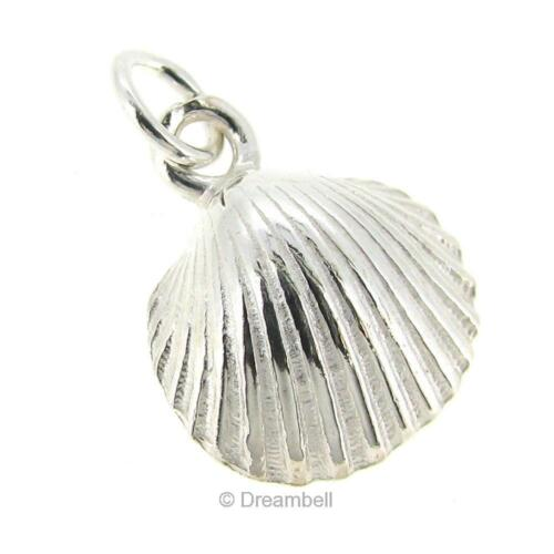 Sterling Silver Sea Shell Dangle Charm 12mm SCP152W