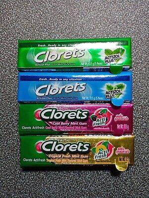 Chewing Gum Clorets 4 Flavor Making Your Breath Flesh Ebay