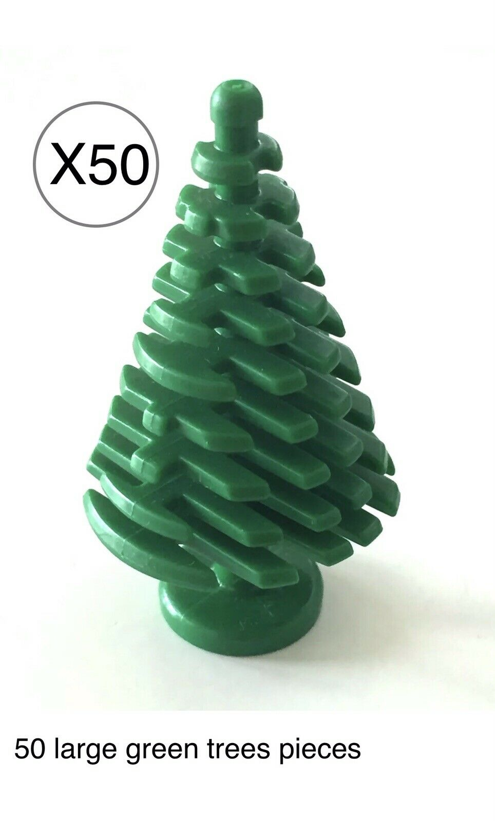 Lego 50 Grün Large Pine Tree 4 x 4 x 6 2 3 City   Christmas   Bulk Parts Lot