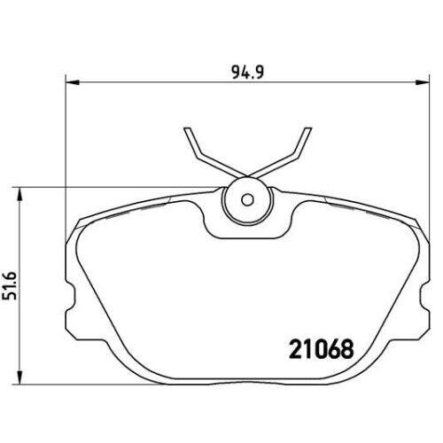 1 Bremsbelagsatz Scheibenbremse BREMBO P 71 003 passend für SAAB VOLVO