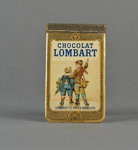 Ancien-carnet-tole-lithographiee-chocolat-Lombart-1906-calendrier-publicitaire