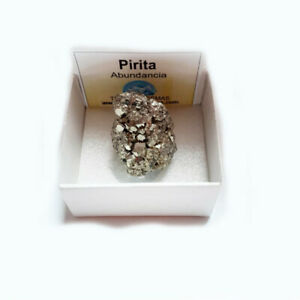 Pirita-Chispa-Natural-de-Peru-Para-Abundancia-Prosperidad-caja-de-coleccion-4x4