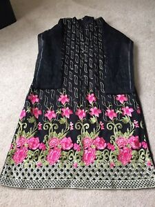 Asian Indian Pakistani Noir Net Dress Brand New Without Tags Taille L