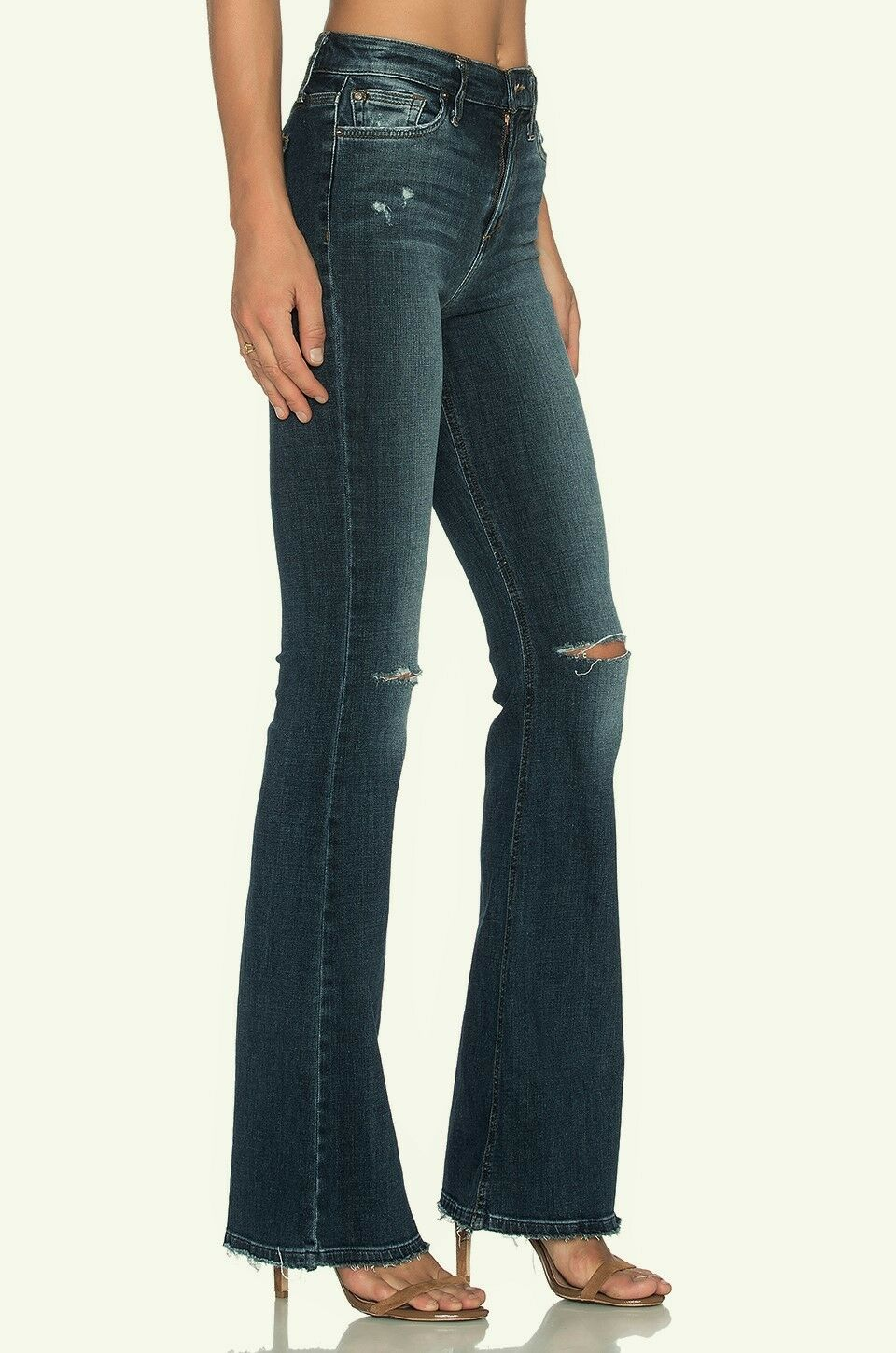 189 NWT JOE'S JEANS 31 Collector's Edition Charlie Flare Bell Destroyed Denim