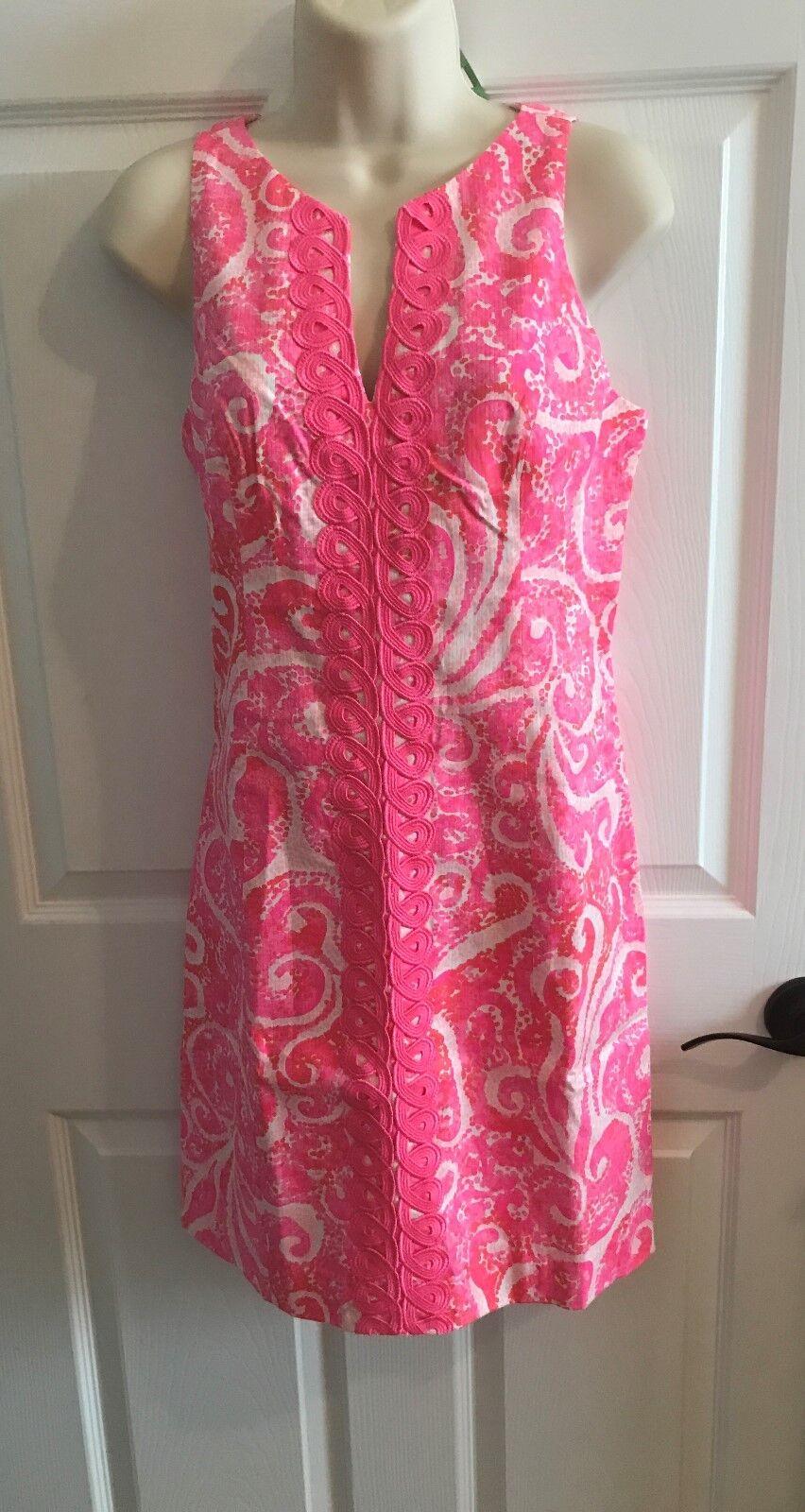 NWT LILLY PULITZER RYDER DRESS Rosa Pout PBJ  Größe 2 or Größe 8 Or Größe 12