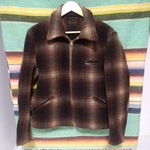 Wool Sports Jacket Bokashi Check Wind Size M 40S V