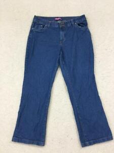 Woman-Within-jeans-size-16W-dark-wash-100-cotton-36-x-30