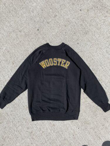 Vtg Black NOS 70s Champion Sweatshirt Blue Bar Woo