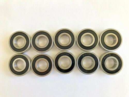 """1//2/""""x 1-1//8/""""x 5//16/"""" R8 2RS Rubber Sealed Premium Bearing Qty. 10"""