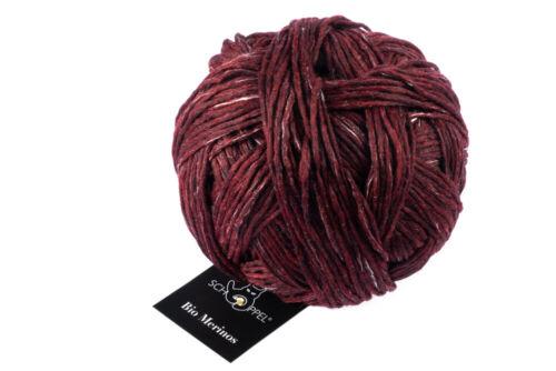 13,50 €//100g bio merinos 50g schoppel 1390m rojo mélange lana biológica