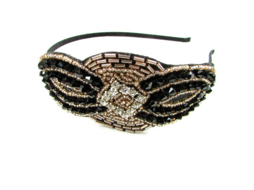 vintage perlé tête pièce bandeau Années 1920 Nuptial Charleston Super GATSBY BAL