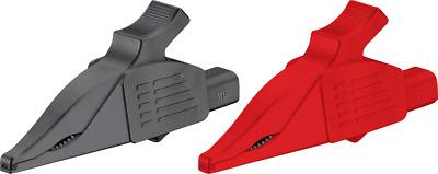 Stäubli XDK-1033 BL Sicherheits-Abgreifklemme Steckanschluss 4mm CAT II 1000V Bl