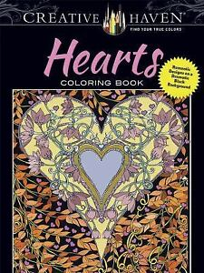 Adult Coloring Creative Haven Hearts Coloring Book Romantic Designs On A Dramatic Black Background By Lindsey Boylan 2017 Paperback