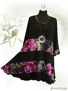 Poco Edeljersey Design Long Lagenlook shirt Tunika Round xUHqxEdrw