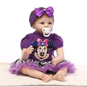Cute Reborn Baby Doll Soft Silicone Girl Toy 22in. 55cm