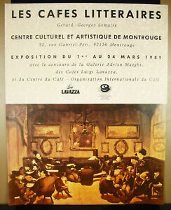 Poster-Cafes-Literary-Montrouge-1989-Gerard-Georges-Lemaire-amp-Adrien-Maeght