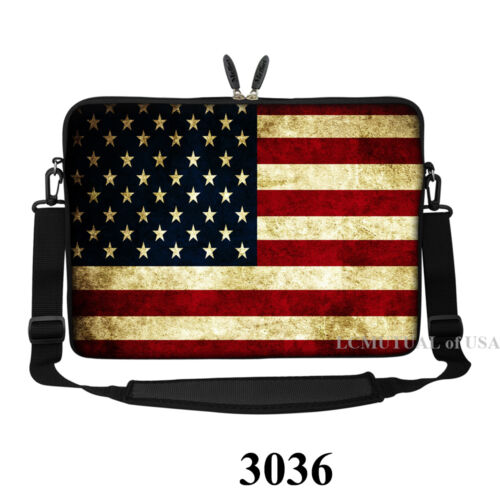 15 15.4 inch Laptop Notebook Sleeve Bag with Shoulder Strap for ASUS Dell HP etc