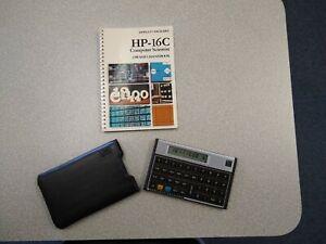 Vintage HP 16C Computer Science Programming Calculator Hewlett Packard w/ Manual