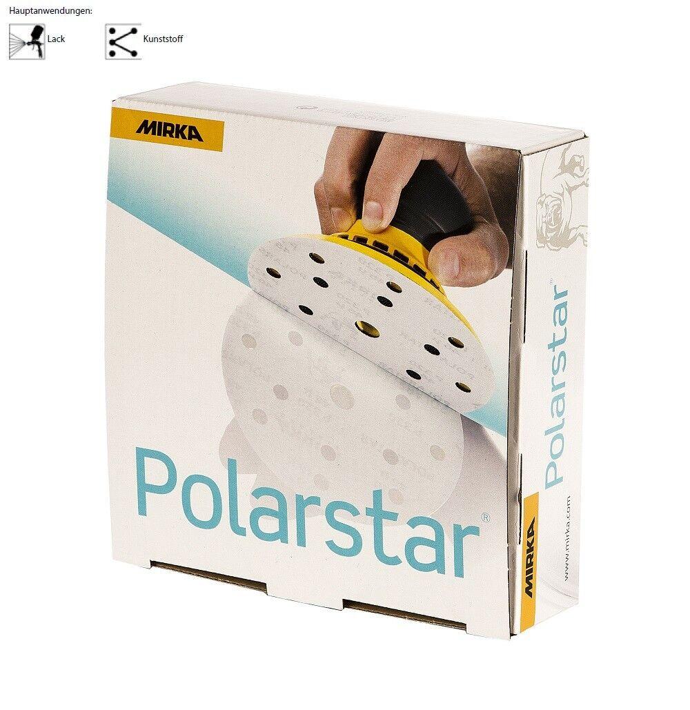 50 Stück Mirka Klettscheiben Polarstar 150mm ungelocht Körnung frei wählbar