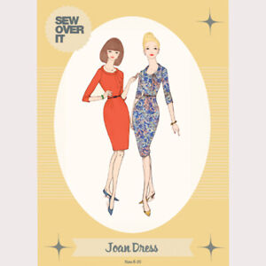 Sew Over It - Joan Dress Pattern.  Sizes 8 to 20.