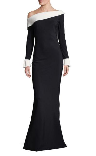 9f39c3de2e3 Chiara Boni La Petite Robe Black   White Trumpet Gown 10 for sale ...