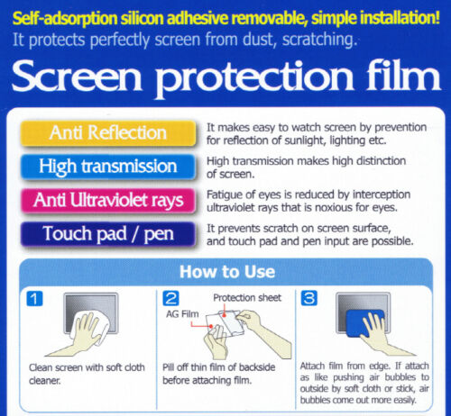 "PureScreen: AntiGlare Screen Protector 7/""v.2/_154x89mm 2x"