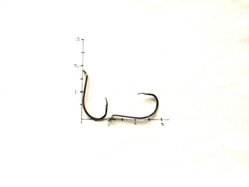 Mustad Nickel Closed Eye BARBLESS Hooks Qty.60 Model 92551 Size 7//0 Item Q198