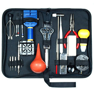 Image Is Loading 21 Pcs Watch Repair Tool Kit Case Opener