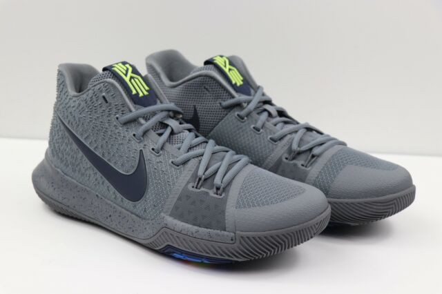 wholesale dealer 328b8 9728f Nike Kyrie 3 Cool Grey Midnight Blue Navy Basketball Shoe 852395-001 Men  Size 10