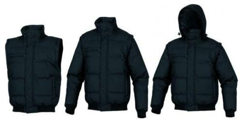 Delta Plus Randers Padded Work Wear Coat Jacket With Removable Sleeves /& Hood