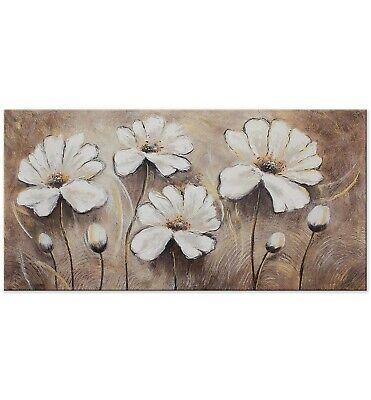 100/% Handgemalt Acryl Gemälde handgemaltes Wand Bild Kunst Leinwand Blumen Vase