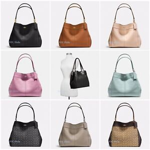ca6db9d145ff Image is loading New-Coach-Lexy-Shoulder-Bag-In-Pebble-Leather-