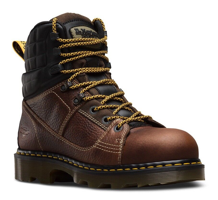 Dr. Martens 6  Camber Steel Toe EH EH EH braun Leather Industrial Work Stiefel 22653214 4c3646