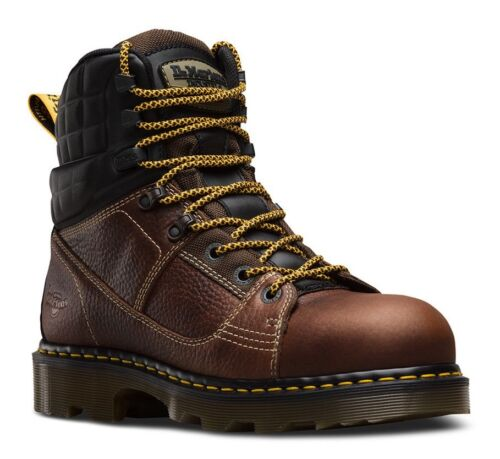 """Dr Martens 6/"""" Camber Steel Toe EH Brown Leather Industrial Work Boots 22653214"""
