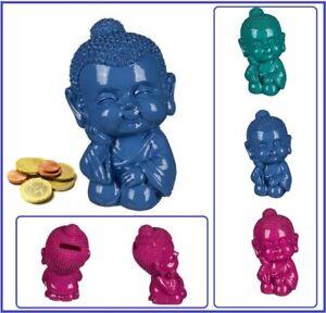 Spardose Baby Buddha Blau Sparschwein Buddhismus Feng Shui ca 13cm