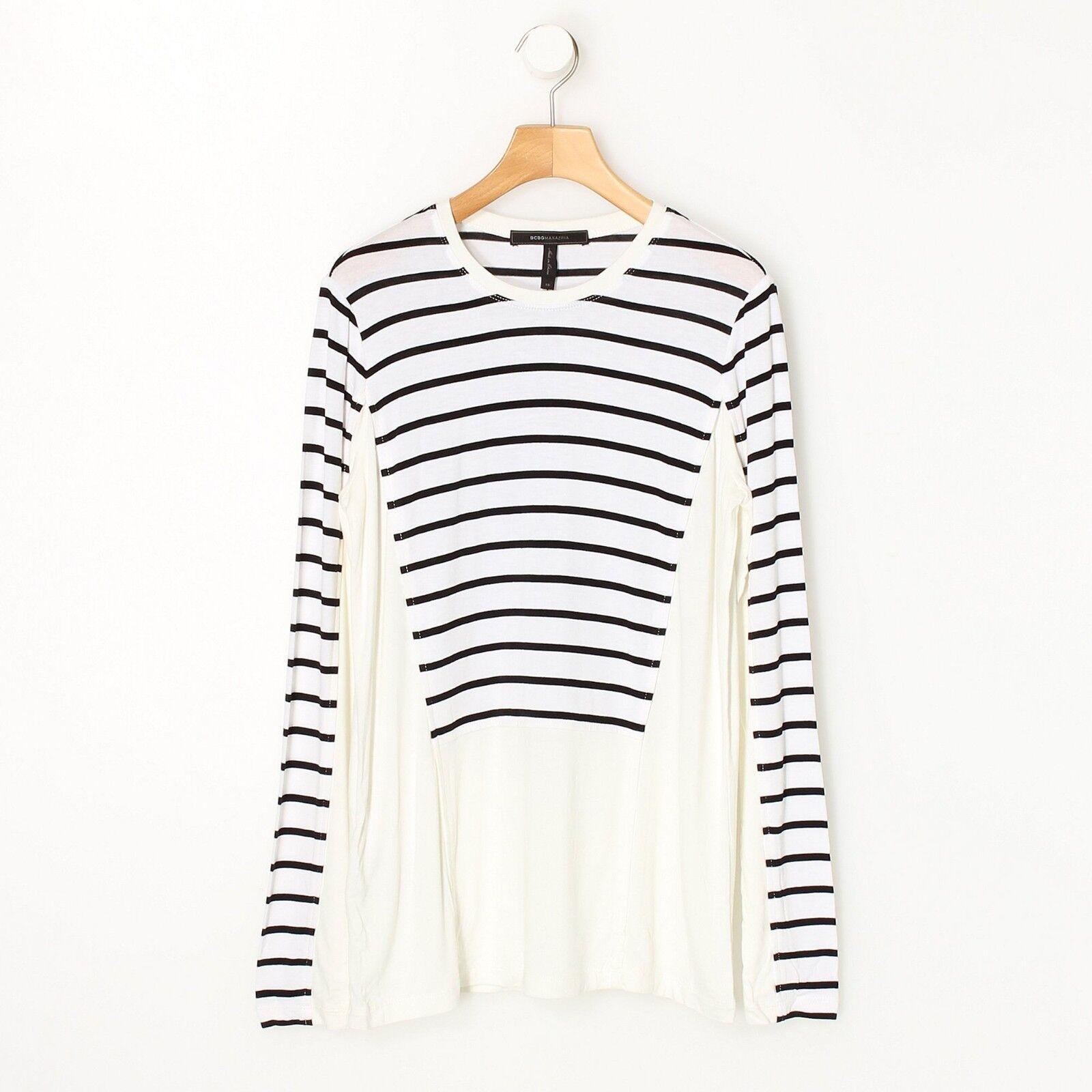 BCBG MAXAZRIA damen Fashion Morgin Strip Soft Knit Sweater Top Shirt New