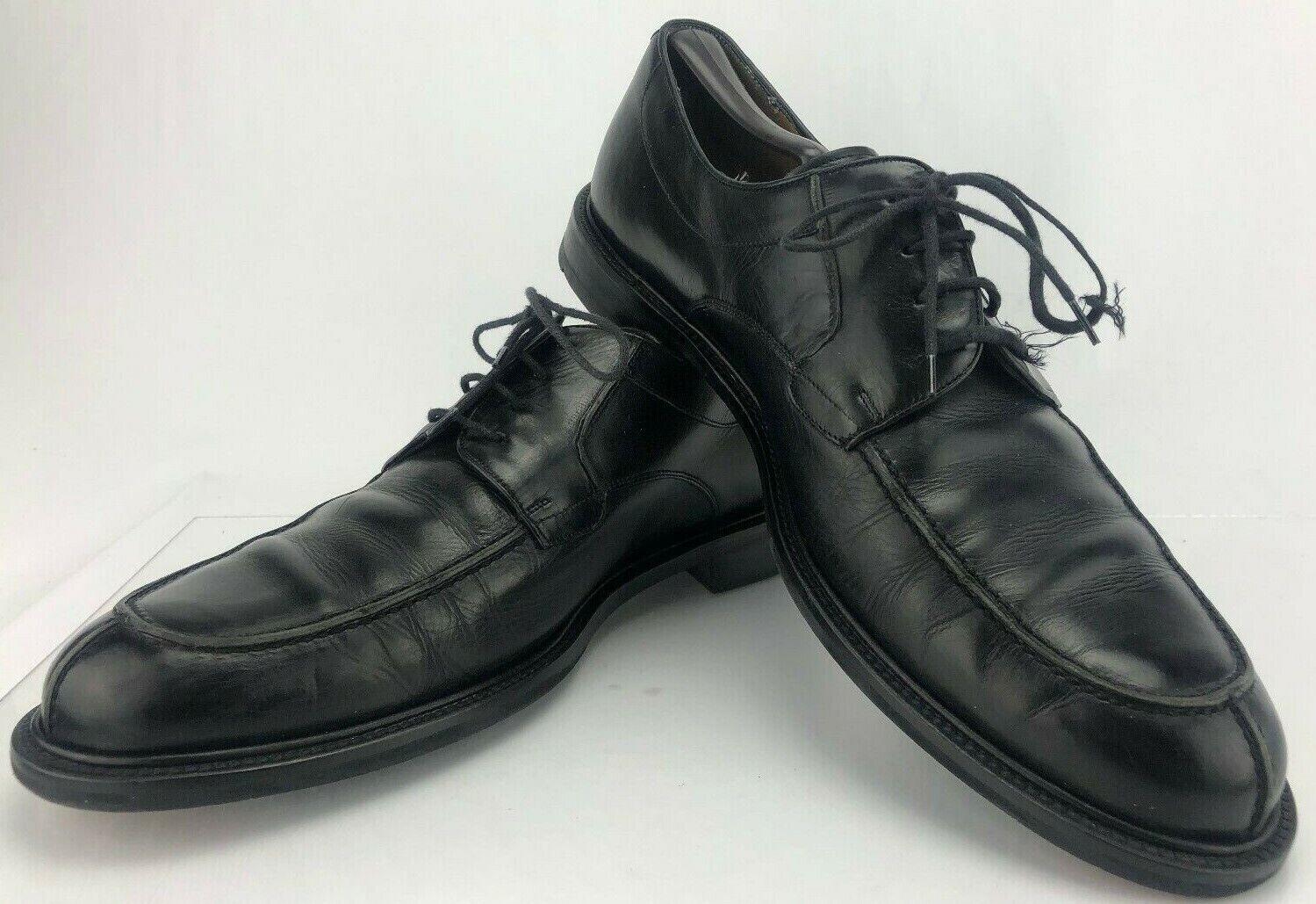 buona reputazione Mezlan Dress Dress Dress scarpe Split Apron Toe nero Lace Up Leather Oxford Derby Uomo 12 W  al prezzo più basso