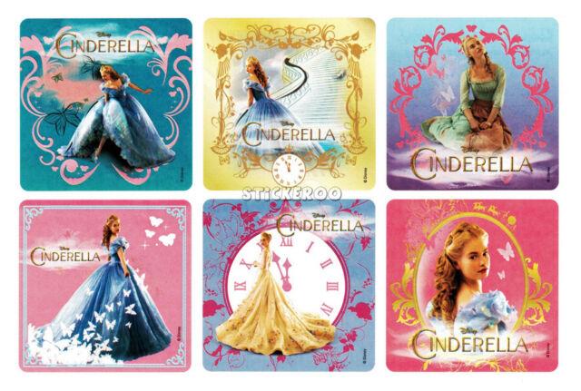 12 Disney Cinderella Movie Stickers Kid Party Goody Loot Bag Filler Favor Supply