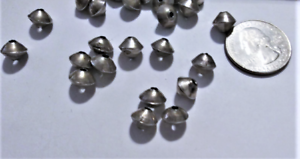 Details about  /Vintage Old Pawn Rare Sterling Silver Navajo Bicone Beads 10 x 8 mm 25 Pcs