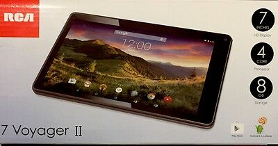 New RCA 7 Voyager II Tablet HD Display 4C 8 GB Android 5.0 RCT6773W22B (Black)