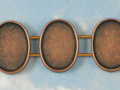 20PCS Antiqued Bronze 12mm round Blank Settings Buttons #22715